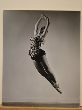 Philippe Halsman (American, born Latvia, 1906-1979). <em>[Untitled]  (Ballet Dancer in Toe Shoes in Air)</em>, 1944. Gelatin silver photograph Brooklyn Museum, Gift of Dr. and Mrs. Arthur E. Kahn, 85.294.22. © artist or artist's estate (Photo: Brooklyn Museum, CUR.85.294.22.jpg)