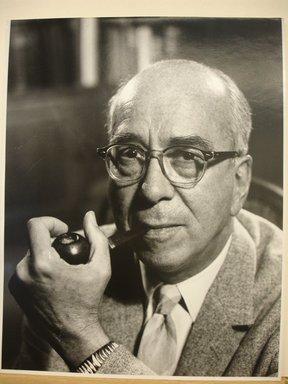 Philippe Halsman (American, born Latvia, 1906-1979). <em>Lewis L. Strauss</em>, 1968. Gelatin silver photograph Brooklyn Museum, Gift of Dr. and Mrs. Arthur E. Kahn, 85.294.9. © artist or artist's estate (Photo: Brooklyn Museum, CUR.85.294.9.jpg)
