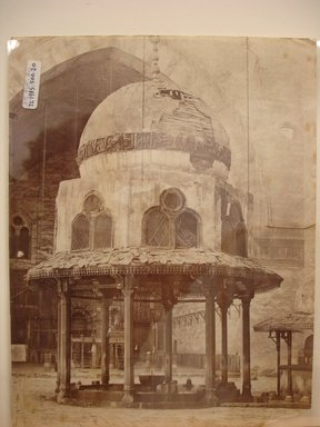 Pascal Sébah (Turkish, 1823-1886). <em>Mosque of Sultan Hassan</em>, late 19th century. Albumen silver photograph Brooklyn Museum, Gift of Matthew Dontzin, 85.305.20 (Photo: Brooklyn Museum, CUR.85.305.20.jpg)