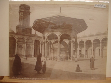 Pascal Sébah (Turkish, 1823-1886). <em>Mohammed Ali Mosque in Cairo</em>, late 19th century. Albumen silver photograph Brooklyn Museum, Gift of Matthew Dontzin, 85.305.21 (Photo: Brooklyn Museum, CUR.85.305.21.jpg)