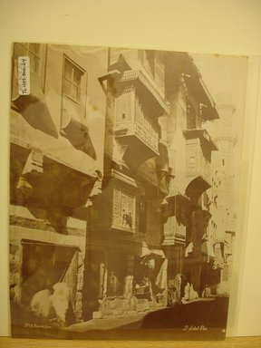Pascal Sébah (Turkish, 1823-1886). <em>Cairo Street Scene</em>, late 19th century. Albumen silver photograph Brooklyn Museum, Gift of Matthew Dontzin, 85.305.24 (Photo: Brooklyn Museum, CUR.85.305.24.jpg)