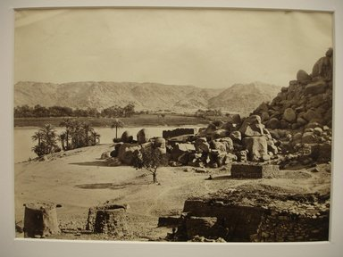 Frank Mason Good (English, 1839-1911). <em>View Across Nile</em>, mid to late 19th century. Albumen silver photograph, image/sheet: 7 3/4 x 10 1/4 in. (19.7 x 26 cm). Brooklyn Museum, Gift of Matthew Dontzin, 85.305.29 (Photo: Brooklyn Museum, CUR.85.305.29.jpg)