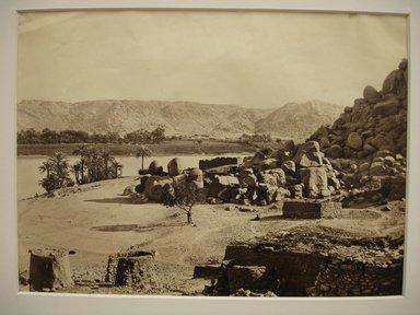 Frank Mason Good (English, 1839-1911). <em>View Across Nile</em>, mid to late 19th century. Albumen silver photograph, image/sheet: 7 3/4 x 10 1/4 in. (19.7 x 26 cm). Brooklyn Museum, Gift of Matthew Dontzin, 85.305.29 (Photo: Brooklyn Museum, CUR.85.305.29.jpg)