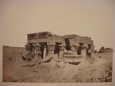 Wihelm Hammerschmidt (German, died 1869). <em>Outer Hypostyle Hall at Kom Ombo</em>, mid-19th century. Albumen silver photograph, image/sheet: 7 3/4 x 10 1/4 in. (19.7 x 26 cm). Brooklyn Museum, Gift of Matthew Dontzin, 85.305.43 (Photo: Brooklyn Museum, CUR.85.305.43.jpg)
