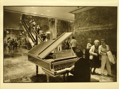 Robert Sefcik (American, born 1948). <em>New York City (Atrium of Trump Tower, 5th Avenue)</em>, 1984. Gelatin silver photograph, Sheet: 11 x 14 in. (27.9 x 35.6 cm). Brooklyn Museum, Gift of Cynthia K. Yanowitz, 85.94.6. © artist or artist's estate (Photo: Brooklyn Museum, CUR.85.94.6.jpg)