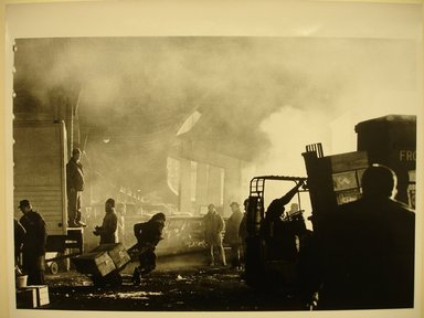 Arthur Leipzig (American, 1918-2014). <em>Fulton Fish Market</em>, 1977. Toned gelatin silver photograph
