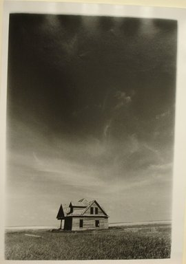 Arthur Leipzig (American, 1918-2014). <em>Deserted House, Kansas Prairie</em>, 1971. Gelatin silver photograph, sheet: 16 × 11 1/2 in. (40.6 × 29.2 cm). Brooklyn Museum, Gift of the artist, 86.152.9. © artist or artist's estate (Photo: Brooklyn Museum, CUR.86.152.9.jpg)
