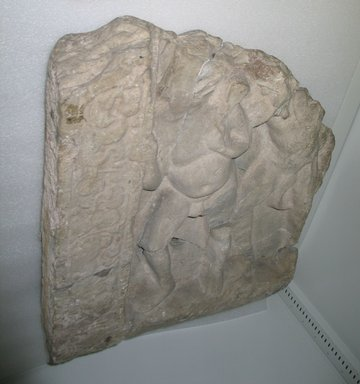<em>Amaravati Fragment</em>, 1st-2nd century. Limestone relief, 23 x 22 x 4 3/4 in. (58.4 x 55.9 x 12.1 cm). Brooklyn Museum, Gift of Georgia and Michael de Havenon, 86.183.1. Creative Commons-BY (Photo: Brooklyn Museum, CUR.86.183.1.jpg)