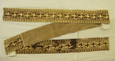 Chancay. <em>Large Fragment of a Belt</em>, 1000-1532. Cotton, 4 5/16 x 98 7/16 in. (11 x 250 cm). Brooklyn Museum, Gift of the Ernest Erickson Foundation, Inc., 86.224.101. Creative Commons-BY (Photo: , CUR.86.224.101.jpg)