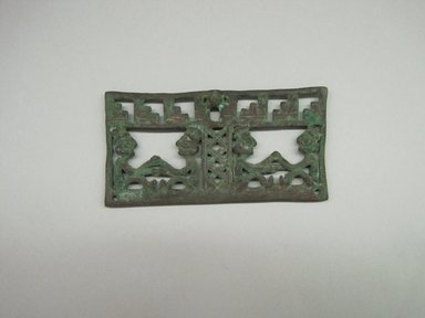 Chimú. <em>Scale Beam</em>, 1000-1500. Bronze, 2 3/16 × 1/8 × 4 5/16 in. (5.6 × 0.3 × 11 cm). Brooklyn Museum, Gift of the Ernest Erickson Foundation, Inc., 86.224.119. Creative Commons-BY (Photo: Brooklyn Museum, CUR.86.224.119.jpg)