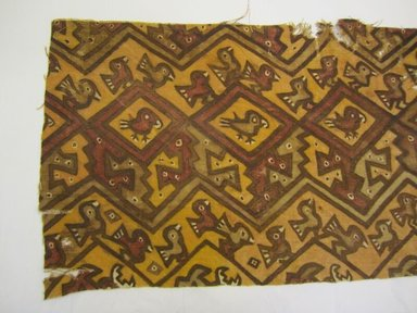 Chancay. <em>possible Dress fragment</em>, 1000-1532. Cotton, pigment, (33.0 x 102.9 cm). Brooklyn Museum, Gift of the Ernest Erickson Foundation, Inc., 86.224.129b. Creative Commons-BY (Photo: , CUR.86.224.129b.jpg)