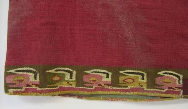Wari. <em>Tunic</em>, 600-1000. Cotton, camelid fiber, 39 x 43 11/16 in.  (99 x 111 cm). Brooklyn Museum, Gift of the Ernest Erickson Foundation, Inc., 86.224.1. Creative Commons-BY (Photo: , CUR.86.224.1_view04.jpg)