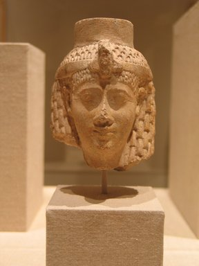 <em>Head of a Queen or Goddess</em>, ca. 230 B.C.E. Limestone, 4 1/4 x 3 1/8 in. (10.8 x 7.9 cm). Brooklyn Museum, Gift of the Ernest Erickson Foundation, Inc., 86.226.32. Creative Commons-BY (Photo: Brooklyn Museum, CUR.86.226.32_wwg8.jpg)