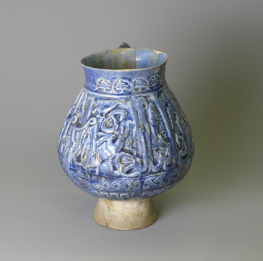 <em>Jug</em>, 12th century. Ceramic, glaze, 7 1/16 x 5 1/8 in. (18 x 13 cm). Brooklyn Museum, Gift of the Ernest Erickson Foundation, Inc., 86.227.17. Creative Commons-BY (Photo: Brooklyn Museum, CUR.86.227.17_view2.jpg)