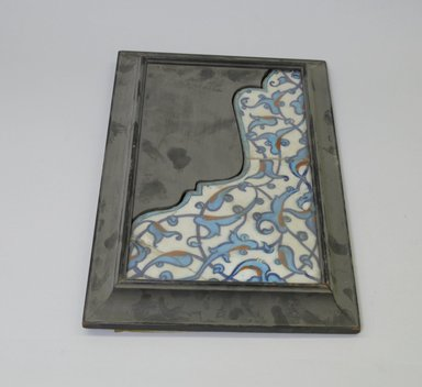 <em>Tile</em>, second half 16th century. Ceramic, cobalt-blue, turquoise, red and white glazes, 10 9/16 x 14 7/8 in. (26.8 x 37.8 cm). Brooklyn Museum, Gift of the Ernest Erickson Foundation, Inc., 86.227.184. Creative Commons-BY (Photo: Brooklyn Museum, CUR.86.227.184.jpg)