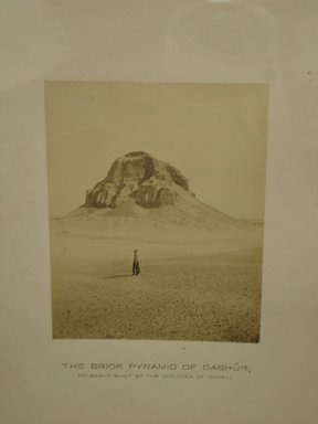 Frank Mason Good (English, 1839-1911). <em>The Brick Pyramid of Dashur</em>, 19th century. Albumen silver photograph, image/sheet: 3 7/8 x 3 1/8 in. (9.9 x 8 cm). Brooklyn Museum, Gift of Alan Schlussel, 86.250.42 (Photo: Brooklyn Museum, CUR.86.250.42.jpg)