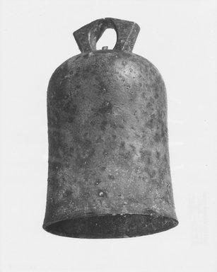 Roman. <em>Bell</em>, 1st century C.E. Bronze, 6 11/16 x 2 5/8 x Diam. 3 9/16 in. (17 x 6.6 x 9 cm). Brooklyn Museum, Gift of Nathaniel Spear, Jr., 86.251. Creative Commons-BY (Photo: Brooklyn Museum, CUR.86.251_NegB_print_bw.jpg)