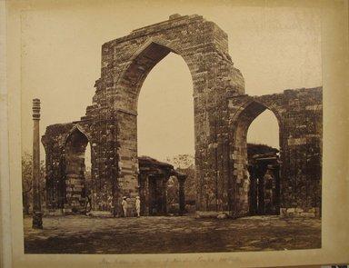 Samuel Bourne (British, 1834-1912). <em>Print from Album of Photographs: Architecture in India</em>, 1863-1866. Albumen silver photograph, 9 1/4 x 11 7/16 in. (23.5 x 29 cm). Brooklyn Museum, Gift of Matthew Dontzin, 86.256.2 (Photo: Brooklyn Museum, CUR.86.256.2.jpg)