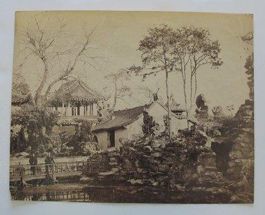 <em>Tea Gardens</em>, late 19th-early 20th century. Albumen silver photograph, 6 5/16 x 8 in. (16 x 20.3 cm). Brooklyn Museum, Gift of Matthew Dontzin, 86.256.31 (Photo: Brooklyn Museum, CUR.86.256.31.jpg)
