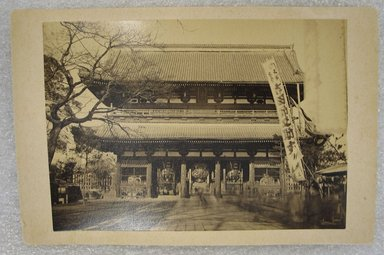 <em>View of Japan</em>, late 19th-early 20th century. Albumen silver photograph mounted on cardboard, with mounting: 4 1/4 x 6 7/16 in. (10.8 x 16.4 cm). Brooklyn Museum, Gift of Matthew Dontzin, 86.256.35 (Photo: Brooklyn Museum, CUR.86.256.35.jpg)