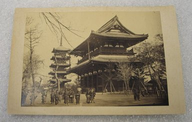 <em>View of Japan</em>, late 19th-early 20th century. Albumen silver photograph mounted on cardboard, with mounting: 4 1/4 x 6 3/8 in. (10.8 x 16.2 cm). Brooklyn Museum, Gift of Matthew Dontzin, 86.256.36 (Photo: Brooklyn Museum, CUR.86.256.36.jpg)