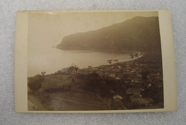 <em>View of Japan</em>, late 19th-early 20th century. Albumen silver photograph mounted on cardboard, with mounting: 4 3/16 x 6 7/16 in. (10.6 x 16.3 cm). Brooklyn Museum, Gift of Matthew Dontzin, 86.256.39 (Photo: Brooklyn Museum, CUR.86.256.39.jpg)