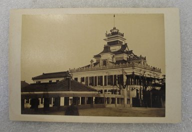 <em>View of Japan</em>, late 19th-early 20th century. Albumen silver photograph mounted on cardboard, with mounting: 4 3/16 x 6 3/8 in. (10.7 x 16.2 cm). Brooklyn Museum, Gift of Matthew Dontzin, 86.256.41 (Photo: Brooklyn Museum, CUR.86.256.41.jpg)
