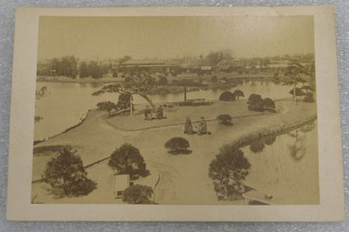 <em>View of Japan</em>, late 19th-early 20th century. Albumen silver photograph mounted on cardboard, with mounting: 4 1/4 x 6 7/16 in. (10.8 x 16.3 cm). Brooklyn Museum, Gift of Matthew Dontzin, 86.256.44 (Photo: Brooklyn Museum, CUR.86.256.44.jpg)