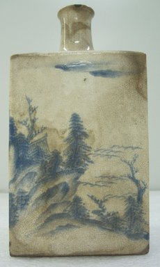 <em>Wine Bottle</em>, 18th century. Awata ware, buff earthenware with underglaze, 9 1/4 x 4 1/2 in. (23.5 x 11.4 cm). Brooklyn Museum, Gift of Dr. and Mrs. John P. Lyden, 86.271.38. Creative Commons-BY (Photo: Brooklyn Museum, CUR.86.271.38_side_view2.jpg)