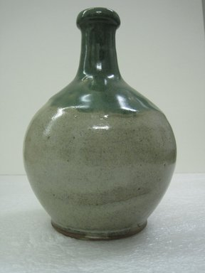 <em>Wine Bottle</em>, 19th century. Matsushiro ware, stoneware, 7 3/4 x 4 1/2 in. (19.7 x 11.4 cm). Brooklyn Museum, Gift of Dr. and Mrs. John P. Lyden, 86.271.53. Creative Commons-BY (Photo: Brooklyn Museum, CUR.86.271.53_side.jpg)