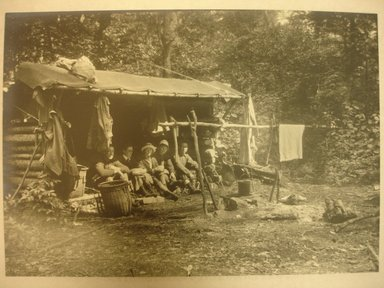 Charles H. Breed (American, 1876-1950). <em>Camping Out</em>, n.d. Gelatin silver photograph, 6 1/2 x 5 1/4 in. (16.5 x 13.3 cm). Brooklyn Museum, Gift of Jack Lubiner, 86.50.2. © artist or artist's estate (Photo: Brooklyn Museum, CUR.86.50.2.jpg)