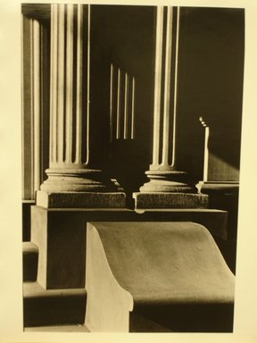 Richard Schiffman (American, born 1952). <em>Untitled (Two Columns)</em>, 1986. Gelatin silver photograph, Image: 12 3/4 x 8 7/16 in. (32.4 x 21.5 cm). Brooklyn Museum, Gift of the artist, 86.54.5. © artist or artist's estate (Photo: Brooklyn Museum, CUR.86.54.5.jpg)