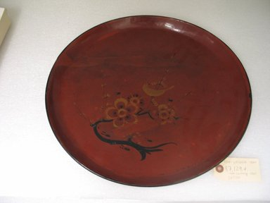 <em>Folk - Lacquer Tray</em>, 19th century. Turned wood coated with lacquer, 1 3/8 x 15 in. (3.5 x 38.1 cm). Brooklyn Museum, Gift of Dr. Hugo Munsterberg, 87.129.4. Creative Commons-BY (Photo: Brooklyn Museum, CUR.87.129.4_top.jpg)