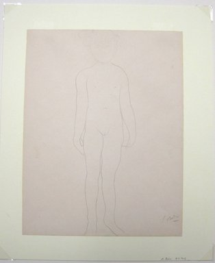 Auguste Rodin (French, 1840-1917). <em>Jean Simpson, Standing (Jean Simpson, debout)</em>, 1903. Pencil on wove paper, 12 13/16 x 9 13/16 in. (32.5 x 24.9 cm). Brooklyn Museum, Gift of the Iris and B. Gerald Cantor Foundation, 87.94.2 (Photo: Brooklyn Museum, CUR.87.94.2.jpg)