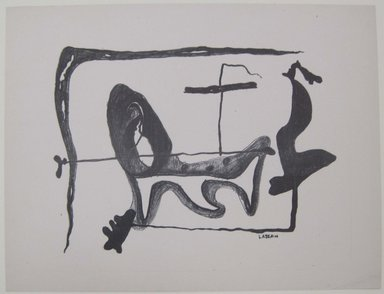 Ibram Lassaw (American, born Egypt, 1913-2003). <em>[Untitled]</em>, 1937. Off-set lithograph on wove paper, sheet: 11 15/16 x 9 3/16 in. (30.4 x 23.3 cm). Brooklyn Museum, Purchased with funds given by an anonymous donor, 88.54.17. © artist or artist's estate (Photo: Brooklyn Museum, CUR.88.54.17.jpg)