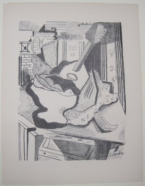 Louis Schanker (American, 1903-1981). <em>[Untitled]</em>. Off-set lithograph, sheet: 12 x 9 1/4 in. (30.5 x 23.5 cm). Brooklyn Museum, Purchased with funds given by an anonymous donor, 88.54.24. © artist or artist's estate (Photo: Brooklyn Museum, CUR.88.54.24.jpg)