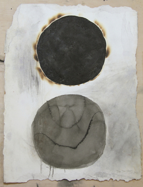 Zhang Jian-Jun (Chinese, born 1955). <em>Water [interpunct] Fire Series</em>, 1992. Chinese ink, water, fire on paper, 30 × 22 in. (76.2 × 55.9 cm). Brooklyn Museum, Gift of Zhang Jian-Jun in honor of the new Chinese galleries, 2018.44. © artist or artist's estate (Photo: , CUR.TL2018.62.jpg)