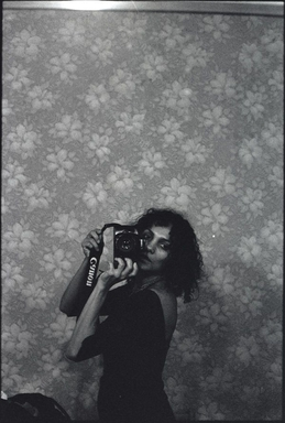 Ming Smith (American,). <em>Untitled (Self-Portrait with Camera), New York, NY</em>, ca. 1975. Gelatin silver photograph, image: 20 × 16 in. (50.8 × 40.6 cm). Brooklyn Museum, Gift of the Contemporary Art Committee, 2019.17 (Photo: Image courtesy Stephen Kasher Gallery, CUR.TL2018.83.2_StephenKasherGallery_photograph.jpg)