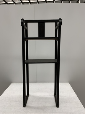 <em>Memorial Altar Chair (Gyoui)</em>, 19th century. Wood, lacquer, 48 × 23 × 12 1/2 in. (121.9 × 58.4 × 31.8 cm). Brooklyn Museum, Gift of the Carroll Family Collection, 2020.18.15 (Photo: Brooklyn Museum, CUR.TL2020.25.12_front.jpg)
