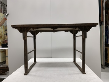 <em>Memorial Altar Table (Che-sang)</em>, late 19th century. Wood, lacquer, 27 11/16 × 48 × 28 1/4 in. (70.3 × 121.9 × 71.8 cm). Brooklyn Museum, Gift of the Carroll Family Collection, 2020.18.16 (Photo: Brooklyn Museum, CUR.TL2020.25.13_overall.jpg)