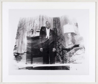 Darrel Ellis (American, 1958-1992). <em>Untitled (Uncle Joseph Tansle)</em>, ca. 1990. Gelatin silver photograph, image: 19 1/4 × 15 3/4 in. (48.9 × 40 cm). Brooklyn Museum, Purchased with funds given by the Charina Endowment Fund, 2020.7.1. © artist or artist's estate (Photo: , CUR.TL2020.5.1_frame.jpg)