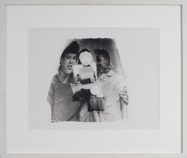 Darrel Ellis (American, 1958-1992). <em>Untitled (Laure and Mother)</em>, ca. 1990. Gelatin silver photograph, image: 13 1/2 × 10 1/2 in. (34.3 × 26.7 cm). Brooklyn Museum, Purchased with funds given by the Charina Endowment Fund, 2020.7.2. © artist or artist's estate (Photo: , CUR.TL2020.5.2_frame.jpg)
