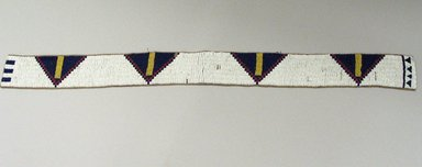 Cheyenne. <em>Belt</em>, 20th century. Hide, beads, 30 5/16 x 2 3/8 in.  (77.0 x 6.0 cm). Brooklyn Museum, Brooklyn Museum Collection, X105. Creative Commons-BY (Photo: Brooklyn Museum, CUR.X105.jpg)