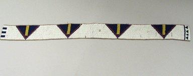 Cheyenne. <em>Belt</em>, 20th century. Hide, beads, 30 5/16 x 2 3/8 in.  (77.0 x 6.0 cm). Brooklyn Museum, Brooklyn Museum Collection, X105. Creative Commons-BY (Photo: Brooklyn Museum, CUR.X105.jpg)