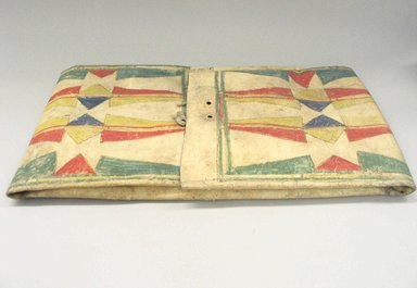 Arapaho. <em>Parfleche</em>, 19th century. Rawhide, pigment, folded: 15 x 26 x 1 3/4 in. (38.1 x 66 x 4.4 cm). Brooklyn Museum, Brooklyn Museum Collection, X1115.3. Creative Commons-BY (Photo: Brooklyn Museum, CUR.X1115.3.jpg)
