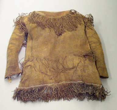 Kiowa. <em>Shirt</em>, 1870s. Hide, beads, paint Brooklyn Museum, Brooklyn Museum Collection, X1126.10. Creative Commons-BY (Photo: Brooklyn Museum, CUR.X1126.10_view1.jpg)