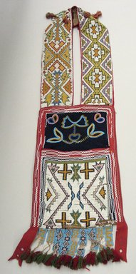 Plains. <em>Bandolier Bag</em>. Beads, cotton, wool, 38 × 10 3/4 in. (96.5 × 27.3 cm). Brooklyn Museum, Brooklyn Museum Collection, X1126.1. Creative Commons-BY (Photo: Brooklyn Museum, CUR.X1126.1_view1.jpg)