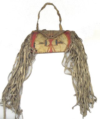 Blackfoot. <em></em>, late 19th century. Hide, paint, pencil, bag: 9 1/2 x 13 in. (24.1 x 33 cm). Brooklyn Museum, Brooklyn Museum Collection, X1126.40. Creative Commons-BY (Photo: Brooklyn Museum, CUR.X1126.40_view1.jpg)