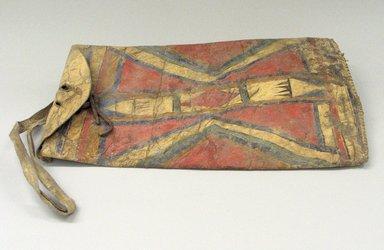 Cheyenne. <em>Medicine Bag</em>, 19th century. Hide, pigment, sinew, 8 5/8 x 14 in. (21.9 x 35.6 cm). Brooklyn Museum, Brooklyn Museum Collection, X1126.41. Creative Commons-BY (Photo: Brooklyn Museum, CUR.X1126.41.jpg)