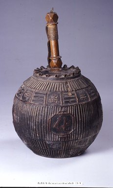 <em>Lantern with Four Auspicious Character (Su-bok-gang-nyeong) Decorations</em>, 19th century. Wood, bamboo, paper, lacquer, metal, 14 9/16 x 5 5/16 in. (37 x 13.5 cm). Brooklyn Museum, Brooklyn Museum Collection, X1134. Creative Commons-BY (Photo: Brooklyn Museum (in collaboration with National Research Institute of Cultural Heritage, , CUR.X1134_Collins_photo_NRICH.jpg)